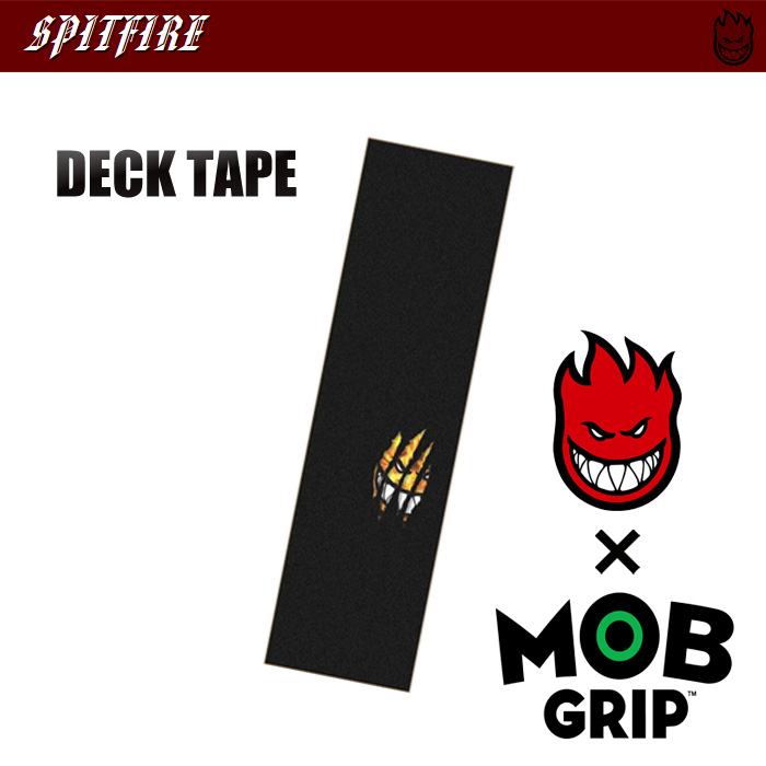 "MOB GRIP×SPITFIRE デッキテープ  RIPPED FIRE 9""×33"" 【モブグリップ スピットファイアー 】【日本正規品】"