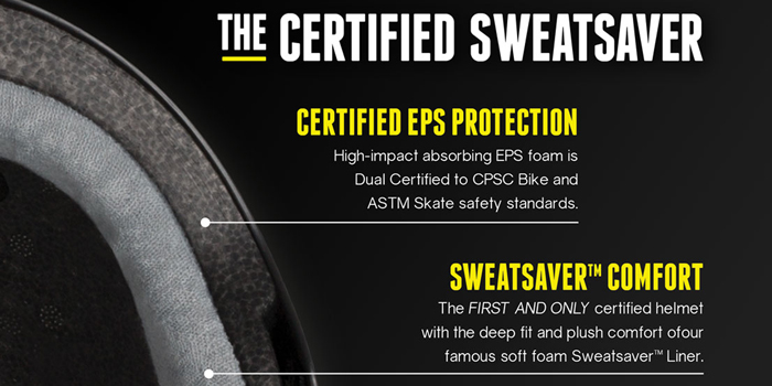 TRIPLE EIGHT ヘルメット THE CERTIFIED SWEATSAVER カラー BLACK GLOSS【日本正規品】