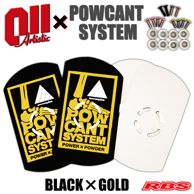 POWCANT SYSTEM 011Artistic PLATE&VIS SET BLACK×GOLD UNION DRAKE RIDE SP etc 用【パウカント システム スノーボード 19-20】【日本正規品】