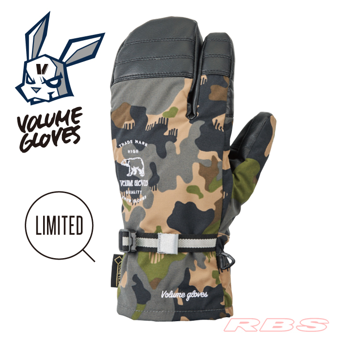 18-19 VOLUME GLOVES THREE KING CAMO