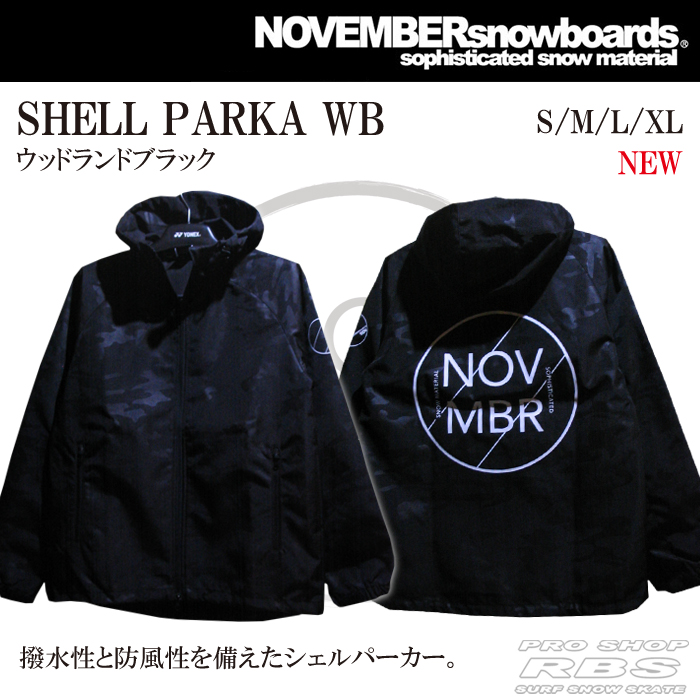 18-19 NOVEMBER  SHELL PARKA/WB 日本正規品