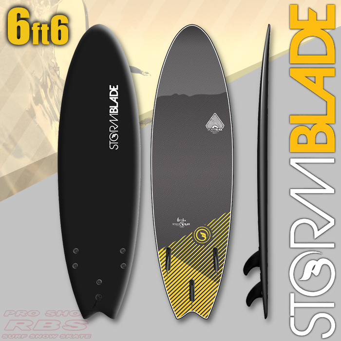 STORMBLADE 6'6 SWALLOW TAIL BLACK/BLACK 日本正規品