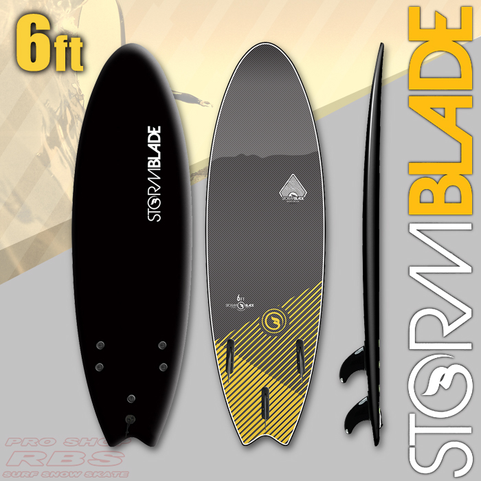 STORMBLADE 6 SWALLOW TAIL BLACK/BLACK 日本正規品