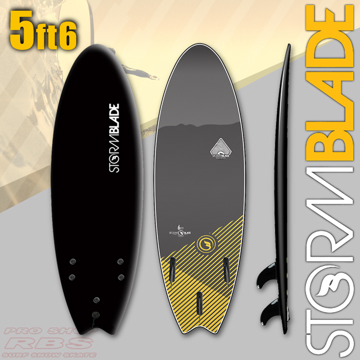 STORMBLADE 5'6 SWALLOW TAIL BLACK/BLACK 日本正規品