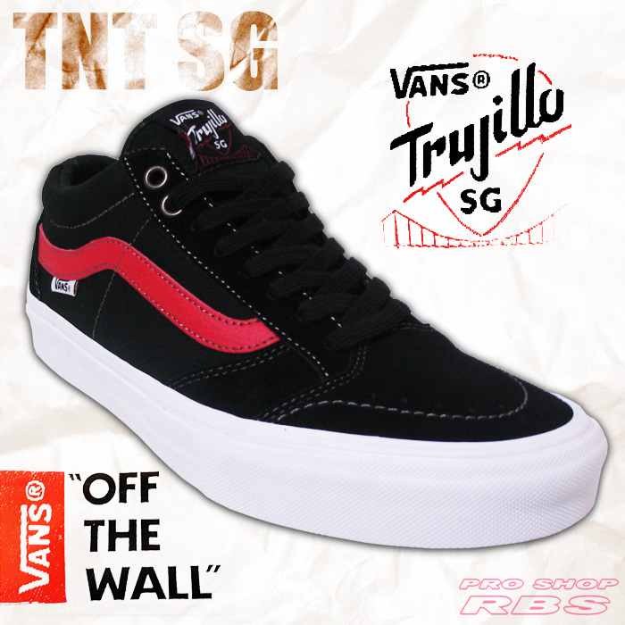 VANS TNT SG BLACK/RACING RED TNT 6 SIX GENERATION 【バンズ スケート シューズ】【日本正規品】