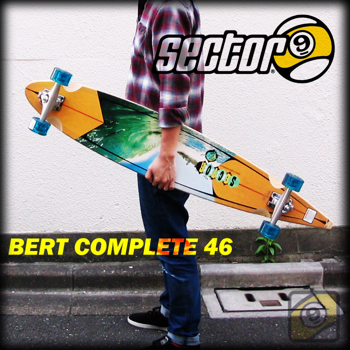 SECTOR9 ロングスケートボード BERT COMPLETE 46 カラー AST 【セクター9 スケートボード コンプリート】【日本正規品】