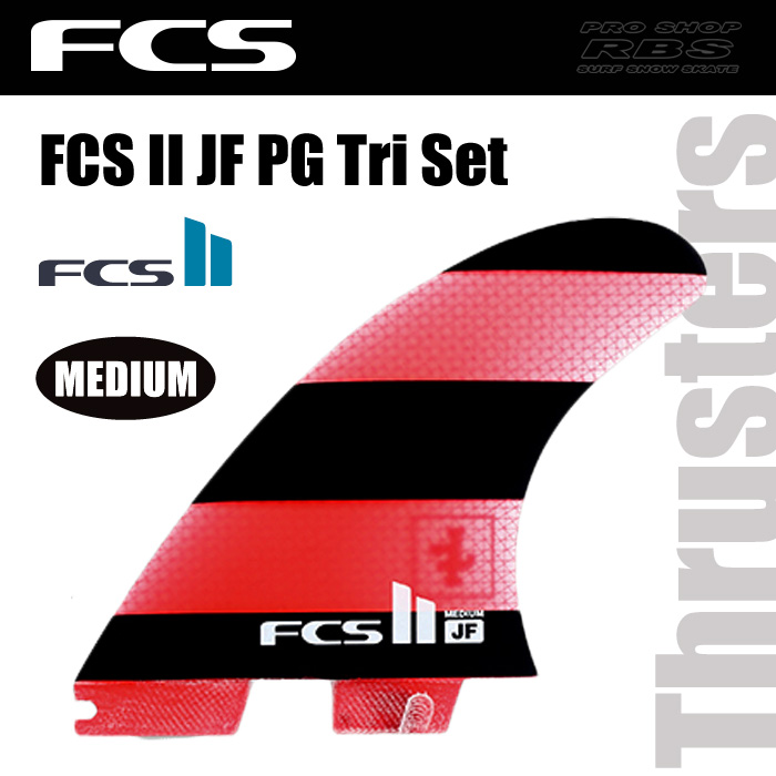 FCS フィン FCS2 JF PERFORMANCE GLASS  Tri Set サイズ MEDIUM 【日本正規品】
