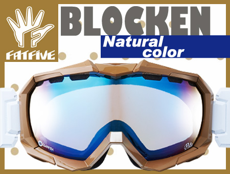 FATFIVE ゴーグル BLOCKEN ブロッケン NATURAL COLOR BLUE MIRROR CLEAR BASE【日本正規品】