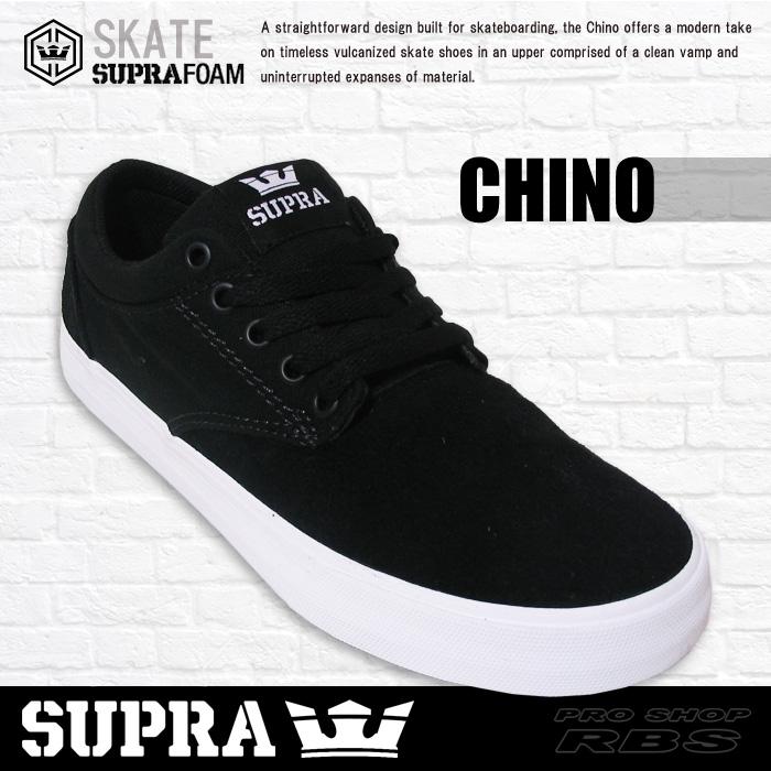 adac9cc74d1 SUPRA スープラ CHINO チノ BLACK-WHITE ブラック ホワイト 日本正規品