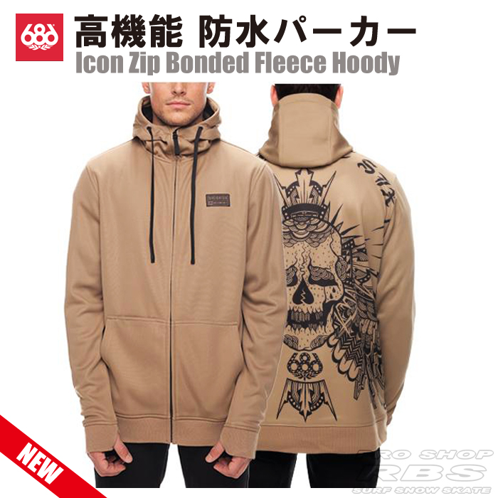 686 パーカー ICON ZIP BONDED FLEECE HOODY カラー KHAKI SUBLIMATION【17-18 ウェア】【日本正規品】