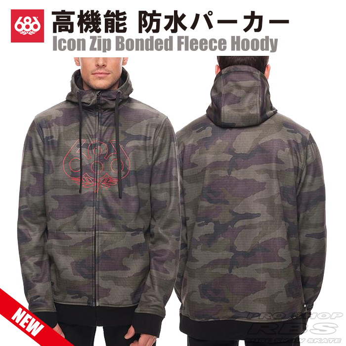 686 パーカー ICON ZIP BONDED FLEECE HOODY カラー FATIGUE CAMO 【2018 ウェア】【日本正規品】