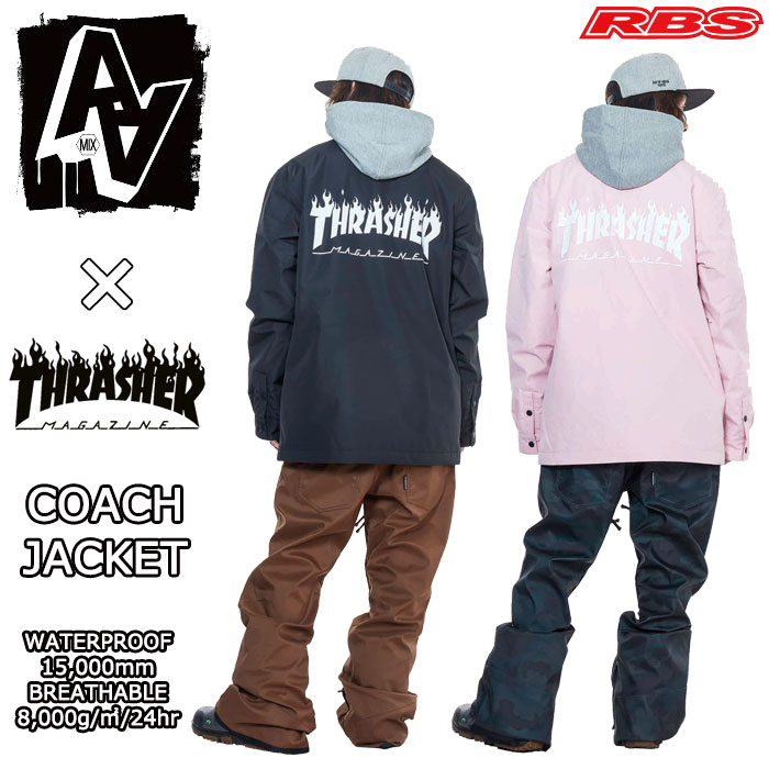 18-19 AA HARD WEAR COACH JACKET コーチジャケット THRASHER FLAME LOGO