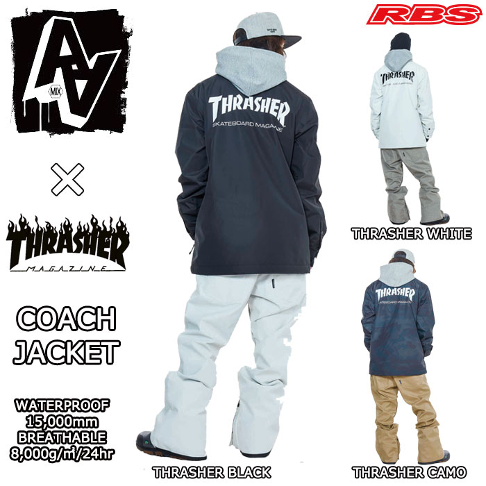 18-19 AA HARD WEAR COACH JACKET コーチジャケット THRASHER LOGO