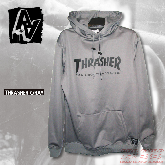 17-18 AA HARD WEAR  THRASHER パーカー BONDED PULLOVER  カラー THRASHER  GRAY【日本正規品】