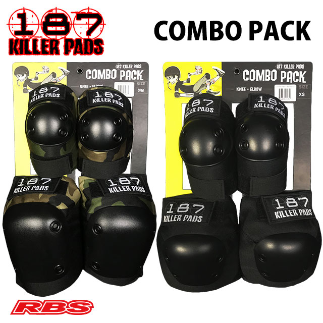 187 KILLER PADS COMBO PACK BLACK CAMO  日本正規品