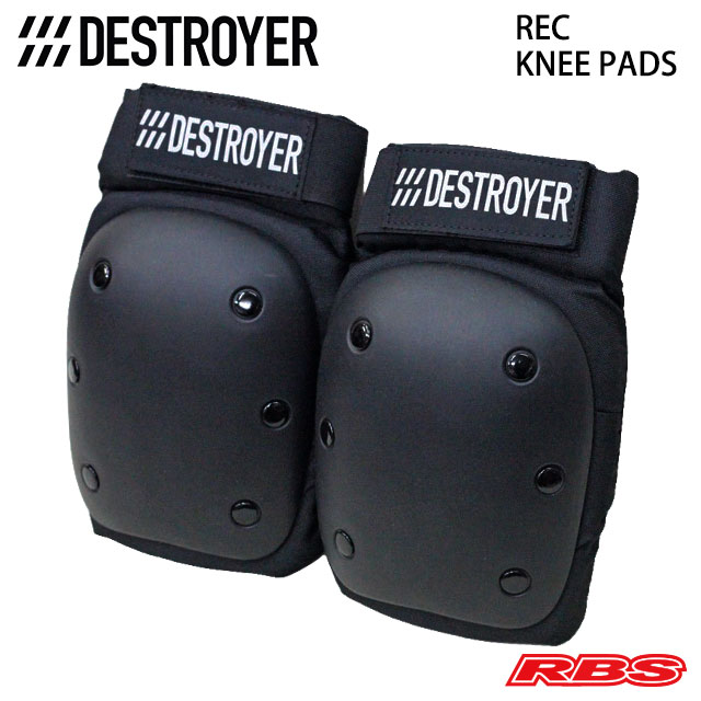 DESTROYER KNEE PADS REC BLACK 日本正規品