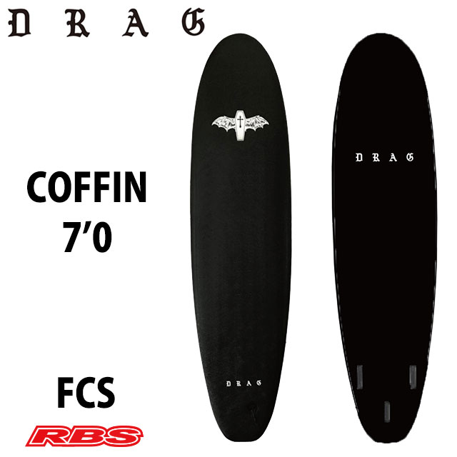 DRAG SURF BOARDS COFFIN 7'0 BLACK 日本正規品
