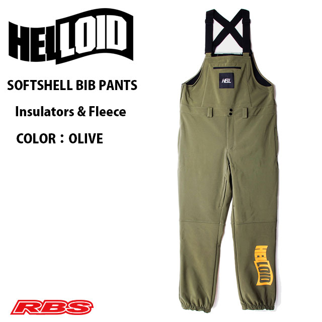 HELLOID SOFT SHELL BIB PANTS OLIVE 日本正規品