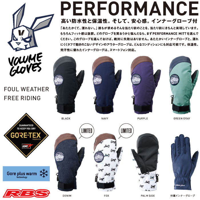 VOLUME GLOVES 19-20 PERFORMANCE GORE-TEX 日本正規品 予約商品
